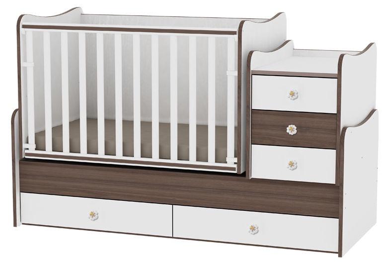 Vaikiška lova Bertoni Lorelli Maxi Plus White/Walnut, 167x72 cm