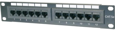Digitus CAT5e Class D Patch Panel 12-Port UTP DN-91512U