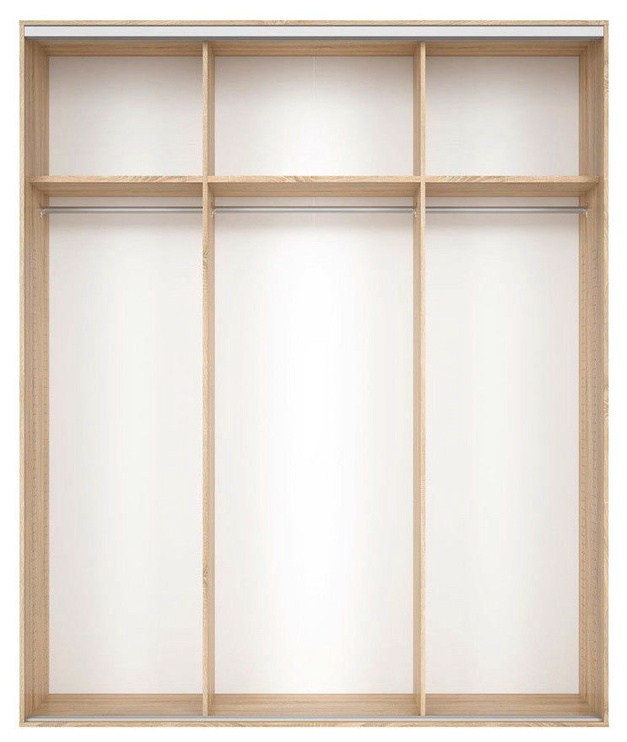 Black Red White Wardrobe Frame Nadir 200 Light San Remo Oak