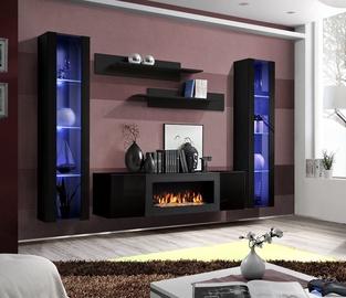 ASM Fly M2 Living Room Wall Unit Set Black