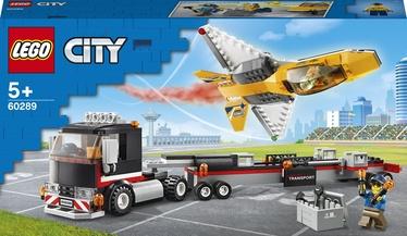 Konstruktor LEGO City Õhuetenduse reaktiivlennuki veok 60289, 281 tk