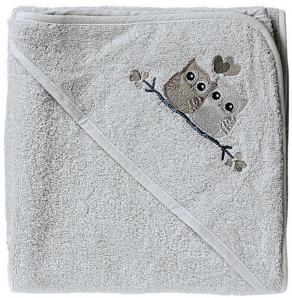 BabyDan Bath Towel With Hood Grey