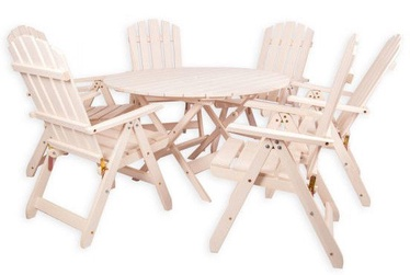 Folkland Timber Folding Garden Set Canada 6 Brown Nut
