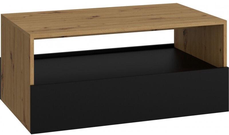Kafijas galdiņš Top E Shop Rebel Artisan, melna/ozola, 900x540x400 mm
