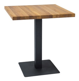 Pusdienu galds Signal Meble Puro Lity Oak Black, 600x600x760 mm