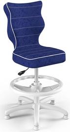 Детский стул Entelo Petit Black HC+F Size 4 VS06, синий/белый, 350 мм x 950 мм