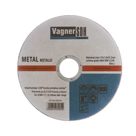 Vagner SDH Metal Cutting Disc 200.04 125x1x22.23mm