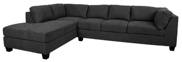 Kampinė sofa Home4you Helmy Dark Gray, kairinė, 210 x 309 x 82 cm