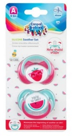 Canpol Babies Silicone Symmetrical Soothers So Cool 6-18m 2pcs 22/632
