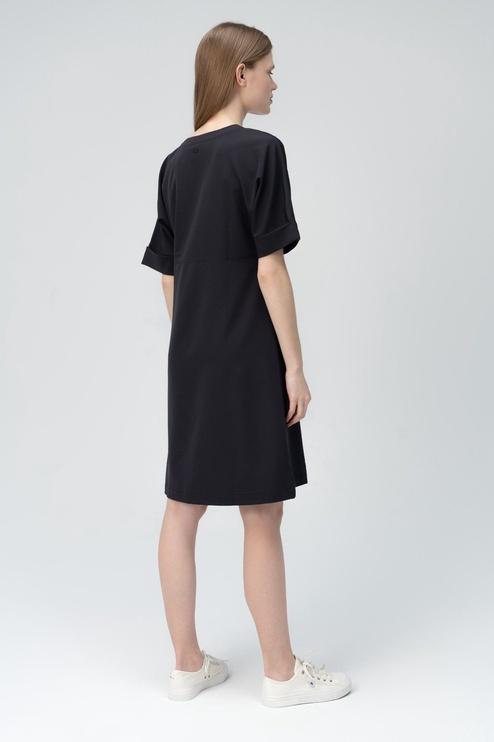 Audimas Light Stretch Fabric Dress Black M