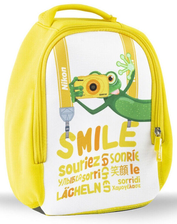 Nikon Smile Backpack For W100 Camera White/Yellow