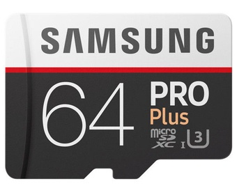 Samsung microSD Pro Plus 64GB UHS-I U3 Class10 + Adapter