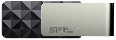 USB atmintinė Silicon Power Blaze B30 Black, USB 3.0, 64 GB