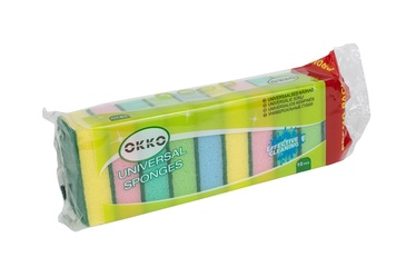 Okko Sponge Set 9.3x6.3cm 10pcs Multicolor
