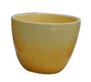 Keramikas puķu pods, 15x15cm, dzeltens