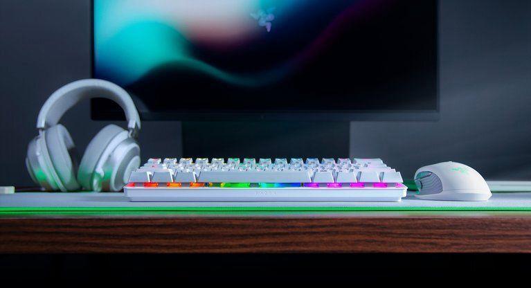 Игровая клавиатура Razer Huntsman Mini Razer Green Mercury White EN