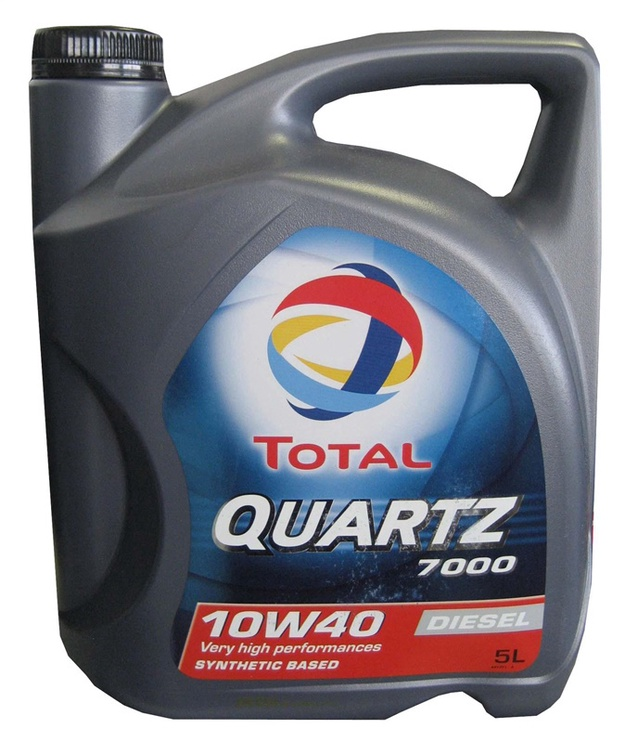 Motoreļļa Total Quartz 7000 Diesel 10W40, 5l