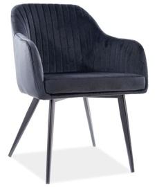 Ēdamistabas krēsls Signal Meble Elina Velvet, melna