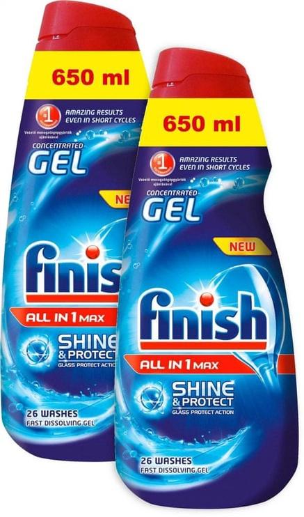 Жидкость для посудомоечной машины Finish All in 1 Max Gel, 2x650 мл