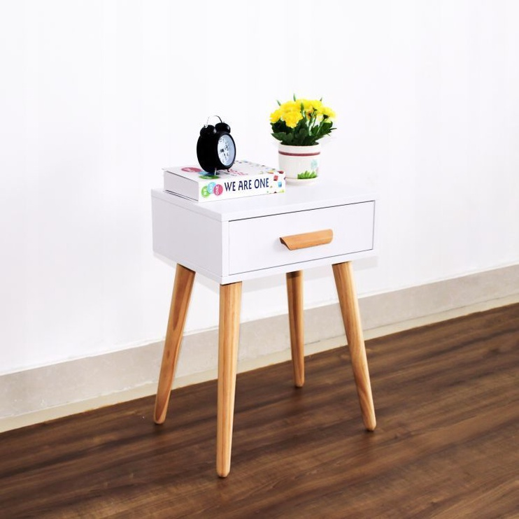 Ночной столик GoodHome Bedside White/Oak