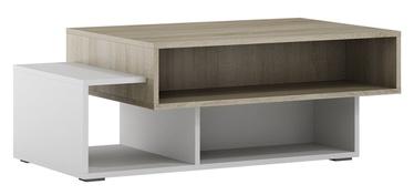 Kafijas galdiņš Szynaka Meble Arend Sonoma Oak/White, 1050x600x390 mm