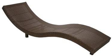 449d0331d09 Home4You Deck Chair Wave Brown
