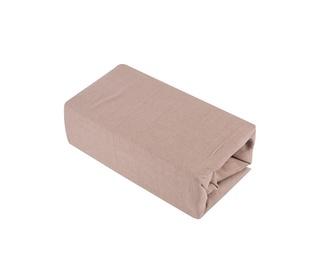 Paklodė Domoletti Jersey brown, su guma, trikotažinė, 200 x 90 cm