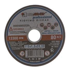 Pjovimo diskas, 115 x 1.2 x 22.23 mm