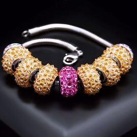 Diamond Sky Bracelet Becharmed Pavé IV With Swarovski Beads