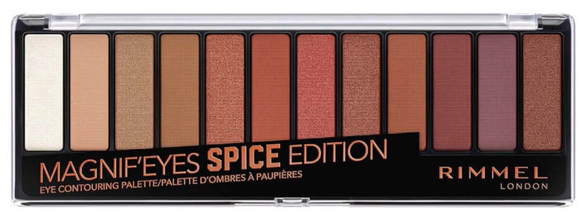 Rimmel London Magnifeyes 12 Pan Eyeshadow Palette Spice Edition 14g
