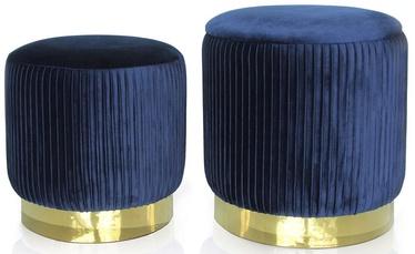Pufas Homede Arya Navy Blue, 34x34x32 cm