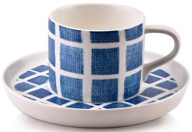 Mondex Navy Cup And Saucer Set 225ml