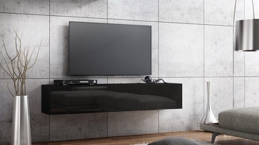 TV galds Pro Meble Milano Wall 160 Black, 1600x320x300 mm