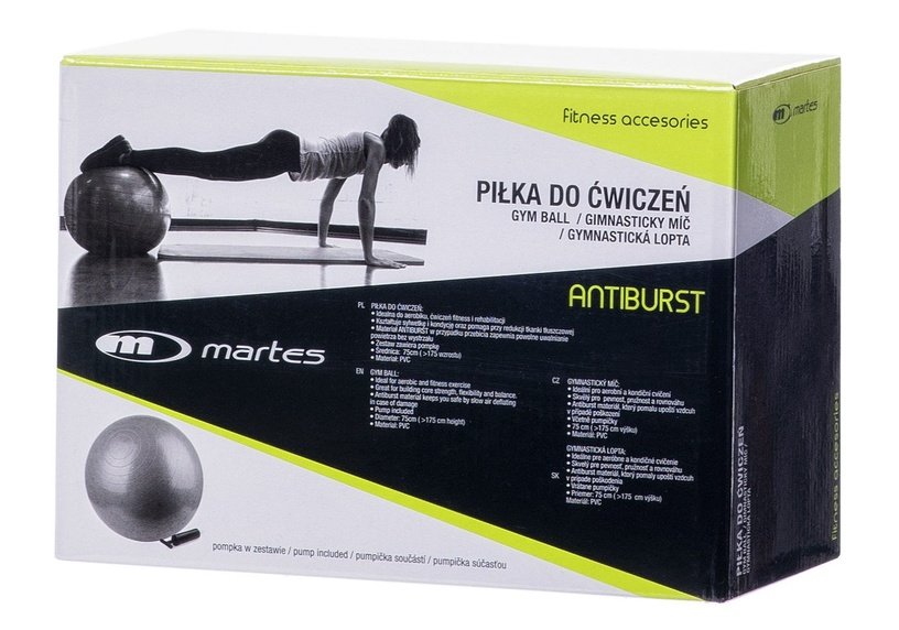 Martes Antiburst Gym Ball 75cm Gray
