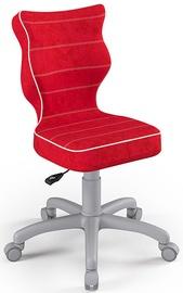 Детский стул Entelo Petit Size 4 VS09, красный/серый, 350 мм x 830 мм