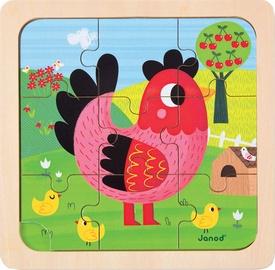Puzle Janod Violette Chicken J07064, 9 gab.