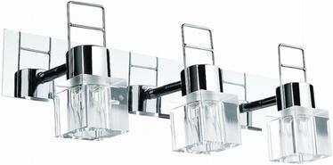 Light Prestige Londyn 3 Wall Lamp 3x40W G9 Silver/Transparent