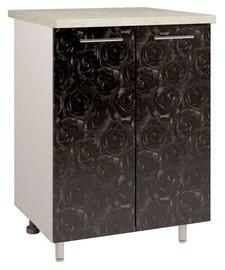 OEM Kitchen Bottom Cabinet Double D2 4 Black Rose