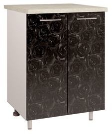 OEM Kitchen Bottom Cabinet Double D2 4 Black Rose