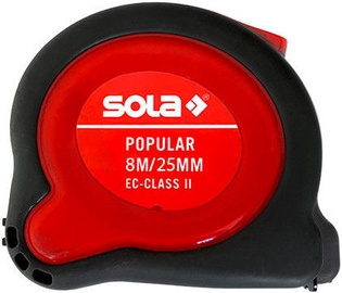 Sola Popular PP Grey/Red Tape Measure 8m