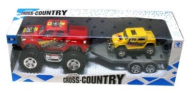 Žaislinė mašina - džipas su priekaba ir papildoma mašinėle