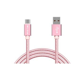 Kaabel USB A - Micro B 1m pink 66-092