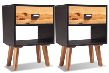 Ночной столик VLX Bedside Cabinets 243177, коричневый/черный, 30x40x58 см