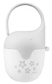 Держатель для соски BabyOno Elephant, белый/серый