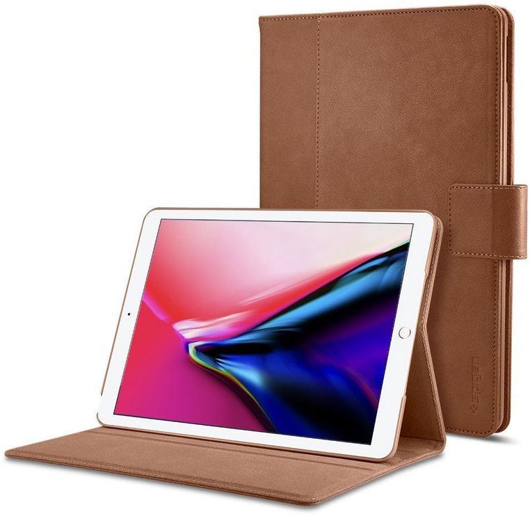 Spigen Stand Folio Kickstand Case For Apple iPad 9.7 2018/2017 Brown