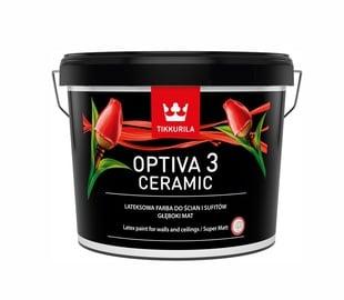 Vandeniniai akriliniai dažai Tikkurila Optiva Ceramic 3 BA, balti, 9 l