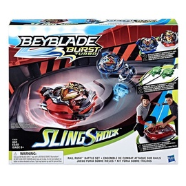 Hasbro Beyblade Burst Turbo Slingshock Rail Rush Battle Set E3629