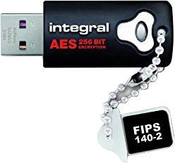 Integral Crypto Drive FIPS 140-2 Encrypted USB Drive 8GB INFD8GCRYPTO140-2