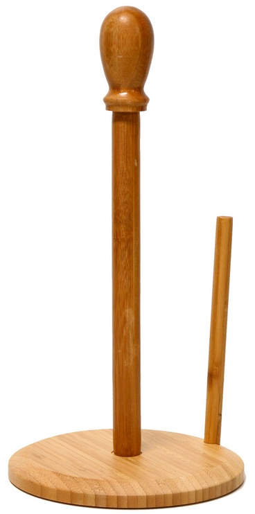 Home4you Kitchen Paper Holder Bamboo Home