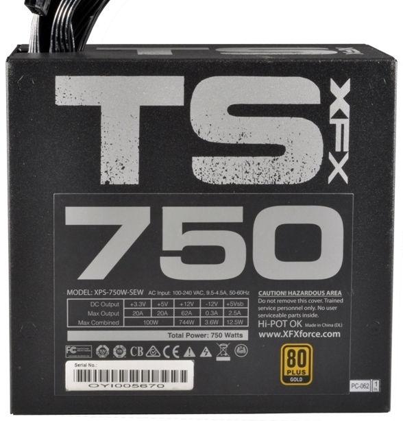 XFX ATX 2.3 TS 750W P1-750G-TS3X